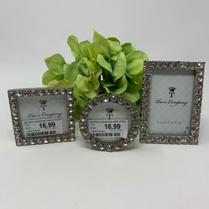 Set of 3 Two's Company 2x3 Small Frames NWT